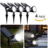 Brightown Upgraded Solar Lights 2-in-1 Waterproof Outdoor Landscape Lighting AdjustableSecurityWall Light Auto On/Off for Yard Garden Driveway Pathway Pool, Pack of 4 Outdoor Landscape Lighting Review