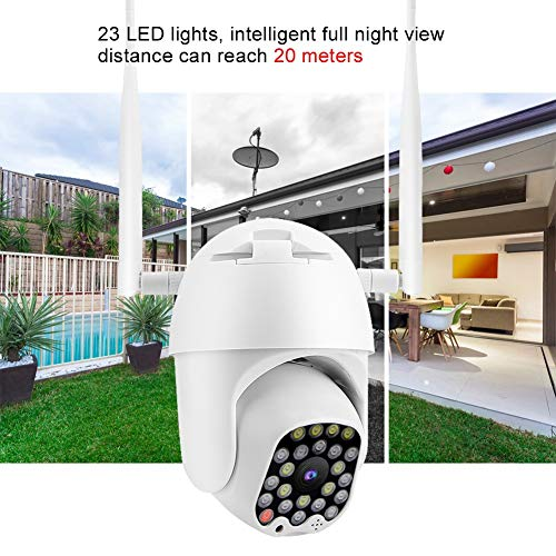 PTZ WiFi IP Camera 1080P Wireless Security Dome Camera Dual Light Weatherproof Indoor/Outdoor Camera for ONVIF with IR-Cut Night Vision/Two-Way Voice Intercom/Motion Detection(US)