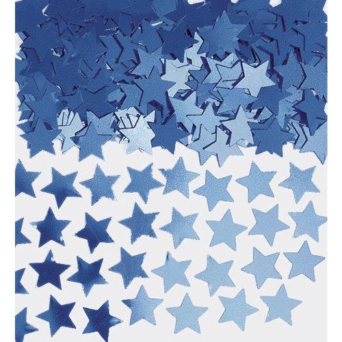 Amscan 369146.01 Mini Stars Blue Confetti, 1/4 oz, ()