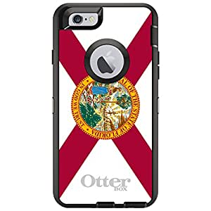"CUSTOM Black OtterBox Defender Series Case for Apple iPhone 6 (4.7"" Model) - Florida State Flag"