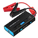 VicTsing 600A Peak 13600mAh Car Jump Starter(up to 4.0L Gas Engine /2.8T Diesel Turbine) with Charging Protection, Auto Battery Booster with Power Bank Function, Dual USB Charging Port and Flashlight