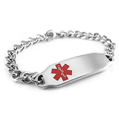 Medical Alert Bracelet >> Amazon Com My Identity Doctor Pre Engraved Customizable