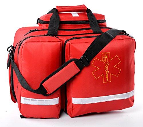 Aurelius EMT Trauma Bag Emergency Response First Aid Bag,Large Capacity (Red)