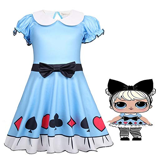 Baby Doll Surprised Girl's Dress Princess Halloween Christmas Party Cosplay Costume ()