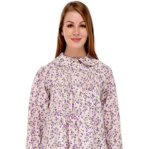 Lane blue Cotton Para Camisón White Mujer olive dw0pxw
