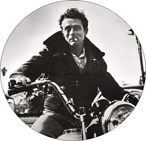 - Set Of 4 Coasters With Cork Backing James Dean On His Motorcycle