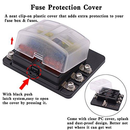 amazon com blade fuse box holder with led warning indicator damp rh amazon com Circuit Breaker Box Car Fuse Box
