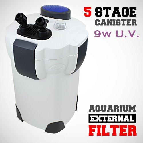 Sunsun HW-304B 525 GPH 5-Stage External Canister Filter with 9-watt UV Sterilizer