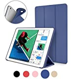 New iPad 2017/2018 iPad 9.7 Inch Case Cover, Cazcase Ultra Slim Lightweight Smart Case Trifold Cover Stand with Flexible Soft TPU Back Cover for iPad Apple New iPad 9.7inch 2017 /2018 (A1822/A1823/A1893/A1954) [Auto Sleep/Wake] - (blue)