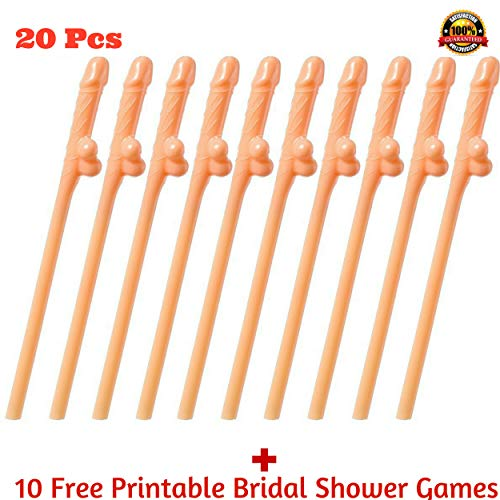 20 Bachelorette Party Straws & Games : Funny Bridal Shower Party Flavors Hen, Girls Night Out Naughty Novelty