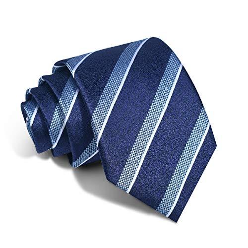 Blue Striped Neck Ties 8CM Width Necktie For Men Fashion Formal Suit (874)