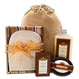 Alder Creek Gifts Autonomy Burlap Spa Bag Gift Basket, 4 Pound