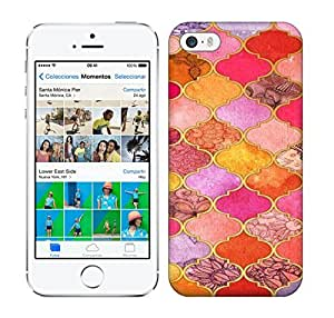Loving Pop Hot Pink, Gold, Tangerine & Taupe Decorative Moroccan Tile Pattern Art phone case for iphone 5/5s