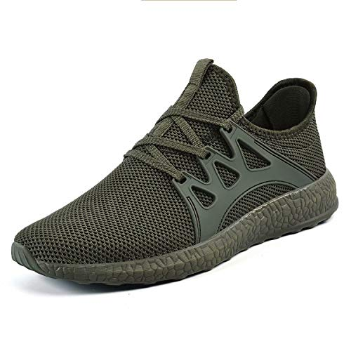 QANSI Men's Sneakers Non Slip Work Shoes Ultra Lightweight Breathable Athletic Running Walking Gym Tennis Shoes