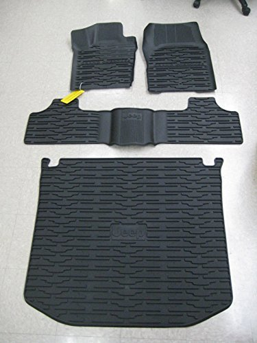 2013-2015 Jeep Grand Cherokee Front/Rear Slush Mats and Cargo Liner Combo by - Jeep 4 Grand Cherokee Piece