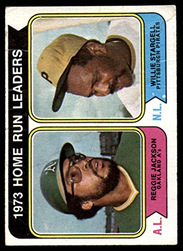 Baseball MLB 1974 Topps #202 Reggie Jackson/Willie Stargell Home Run Leaders G Good