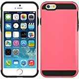 Iphone 6 6s Case Holder Slim PINK Dual Layer Protective Cover and Cleaning Cloth and Protector