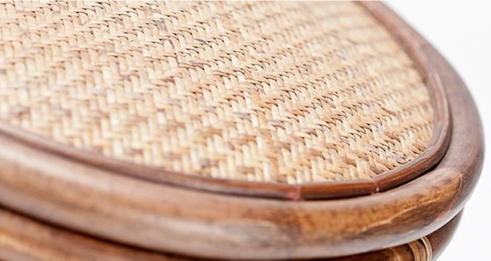 AO-stools Rattan Short Drum Stool Home Small Stool Dressing Stool Ottoman Laundry Stool 42x36cm by AO (Image #5)