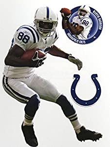 "Marvin Harrison Mini FATHEAD Indianapolis Colts Logo Official NFL Vinyl Wall Graphics 7"" INCH"