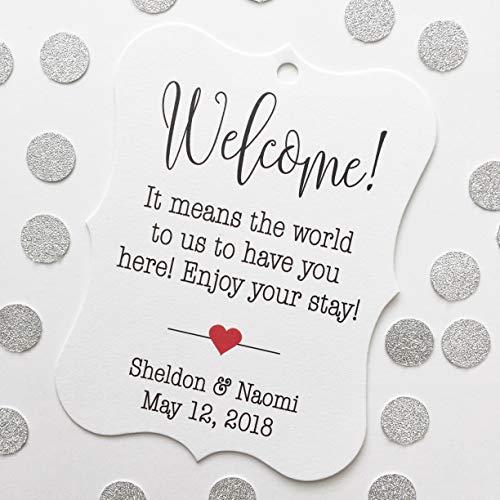 Welcome! Destination Hotel Bag Wedding Favor Hang Tags (EC-184)