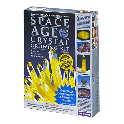 Space Age Crystal Growing Kit: 6 Crystals (Citrine and Topaz)