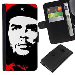 eJoy---La carpeta del tirón la caja de cuero de alta calidad de la PU Caso protector - HTC One M9 - --Che Guevara;