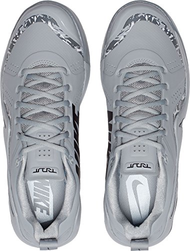 Nike Mens Force Zoom Trota 4 Turf Baseball Trainer Noi) Grigio / Nero