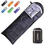VERZEY Envelope Camping Sleeping Bag for Adults, Youth,Kids & Boys, Great for 4 Season,Portable for Traveling Hiking Waterproof Lightweight Outdoor Sleeping Bags