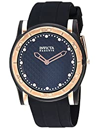 Invicta Men's 'Reserve' Quartz Stainless Steel and Silicone Casual Watch, Color:Black (Model: 23949)