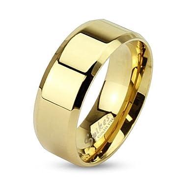 Bungsa Goldener Ring Klassisch Edelstahl Mit Abgerundeten Kanten Fur
