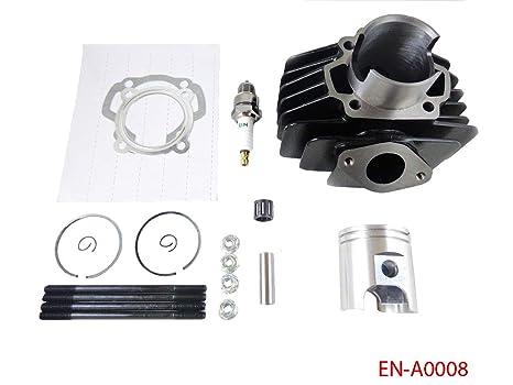 Amazon com: Big Bore Kit 60cc Cylinder Piston Kit for Yamaha PW50 PW