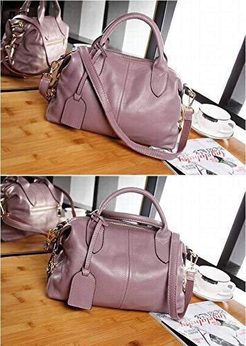 mostrato Borsa come Eeayyygch pelle taglia a colore Purple semplice unica in Boston tracolla Taro HArPZvH