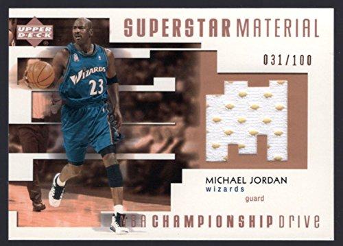 2002-03 UD Championship Drive Superstar Materials Michael Jordan Jersey /100
