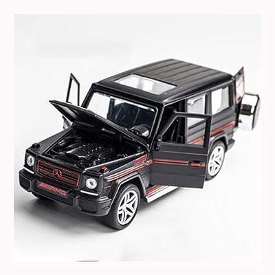 1:32 Mercedes-Benz Alliage modèle de Voiture, décoration de Voiture de Jouet pour Enfants, Son et lumière Quatre Portes Tirez Voiture Jouet , Noir Rouge Cuisine & Maison