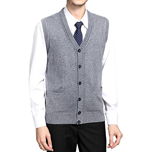 WEILAI Sleeveless Button Front Gentleman Business product image