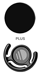 PopSockets: Collapsible Grip & Stand for Phones and Tablets - Black & Mount