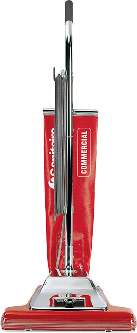 Sanitaire SC899F Commercial Shake Out Bag Wide Upright Vacuum Cleaner with 7 Amp Motor, 16'' Cleaning Path
