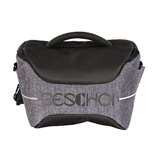 Beschoi Compact Camera Bag DSLR Gadget Bag Shockproof Travel Padded Shoulder Bag with Rain Cover for Canon, Nikon, Olympus, Sony Digital Cameras, Lens and Flash Speedlite by Beschoi