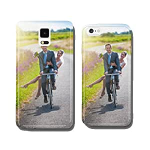 A newlywed couple is taking the road on a bike. cell phone cover case Samsung S5