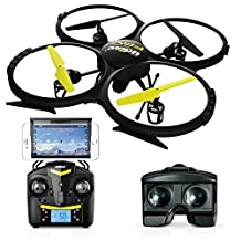 Force1 UDI U818A Wifi FPV Drone For Adults & Kids With HD Camera, VR Headset & Altitude Hold - Extra Battery Included