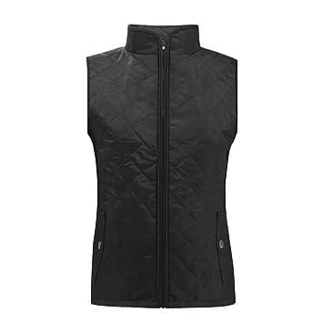 Vest Padding Quilted Winter Lightweight Jacket Women/'s Top Autumn