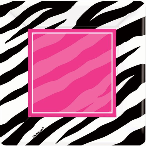 Zebra Square Dessert Plates Party -