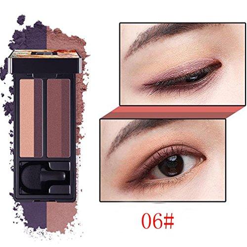 Four-color Shimmer Stamp Eyeshadow Palette Lasting Makeup Po