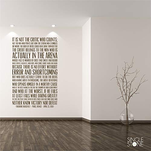 BYRON HOYLE The Man in The Arena Quote Wall Decal - Business Office Vinyl Words