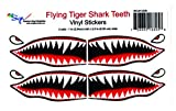 Flying Tigers shark teeth decals 1' t x 2.5'w x 2...