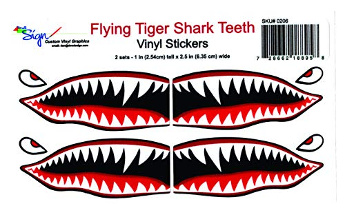 Flying Tigers shark teeth decals 1