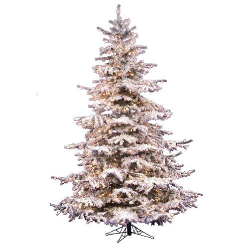 Vickerman 85' Flocked Sierra Artificial Christmas Tree wi...
