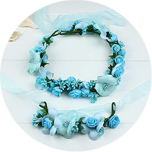 - Fashion Beautiful Wedding Bridal Flower Tiara Wreath Coroa Headbands Floral Bride Garland Crowns Beach Wreath Prom Headdress