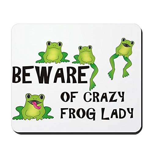 Crazy Mouse Pad (CafePress - Beware Of Crazy Frog Lady - Non-slip Rubber Mousepad, Gaming Mouse Pad)