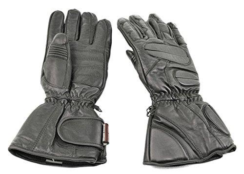 Premium Leather Snowmobile Gloves Gauntlet Snow Ski Cold Weather ( M Medium )